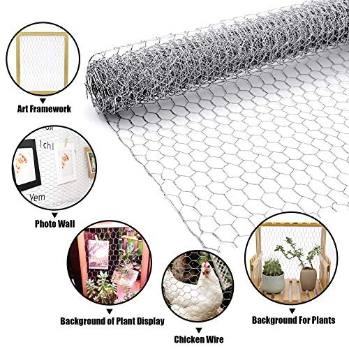 BSTWM Chicken Wire Net 16.9in x 32.8ft for Craft and