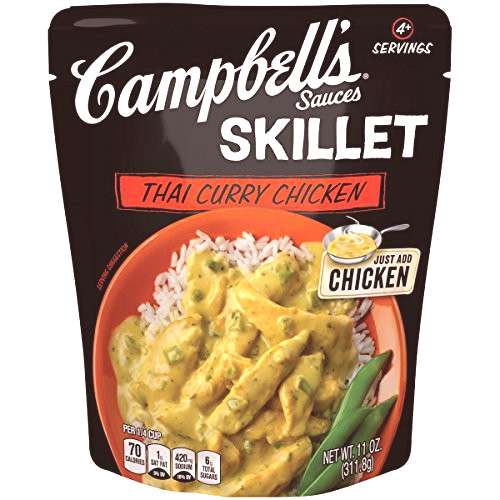Campbells Skillet Sauces, Thai Curry Chicken, 11 oz. (Pack