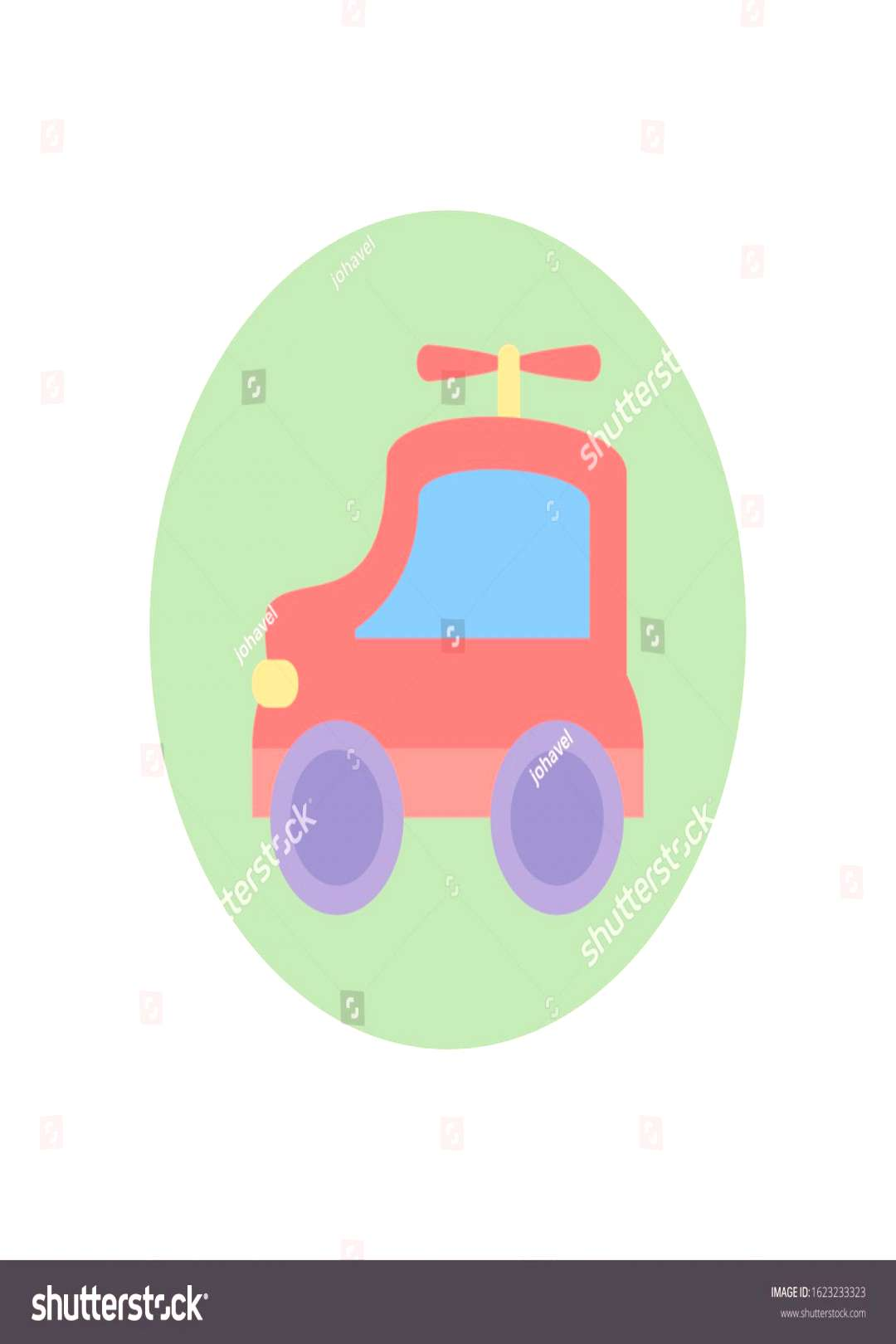 car toy design of Childhood play fun kid game gift object little and present theme Vector illustrat