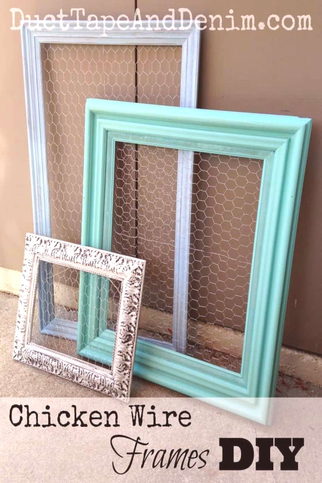 Chicken wire frames DIY. A quick easy way to display jewelry. |