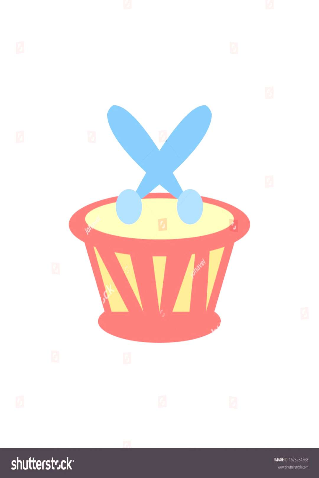 drum toy design of Childhood play fun kid game gift object little and present theme Vector illustra