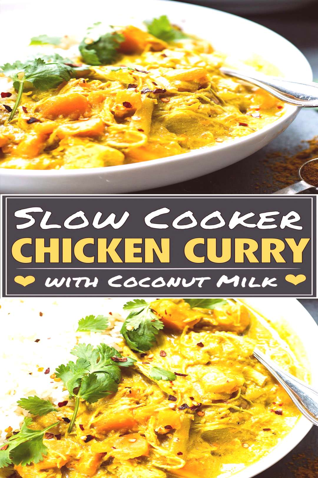 Easy Slow Cooker Chicken Curry Recipe Slow Cooker Chicken Curry recipe that is made with coconut mi