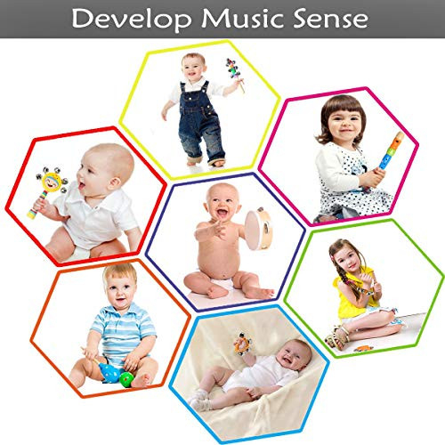 Ehome Toddler Musical Instruments, Wooden Percussion