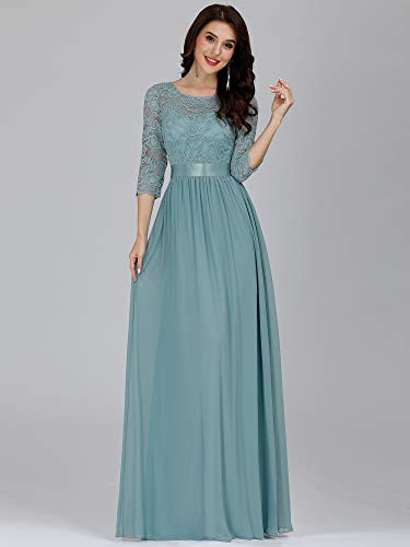Ever-Pretty Women Lace Elegant 3/4 Sleeve Lace and Chiffon