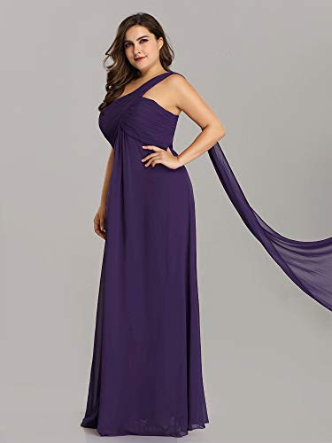 Ever-Pretty Womens Plus Size Empire Ruched Chiffon Long