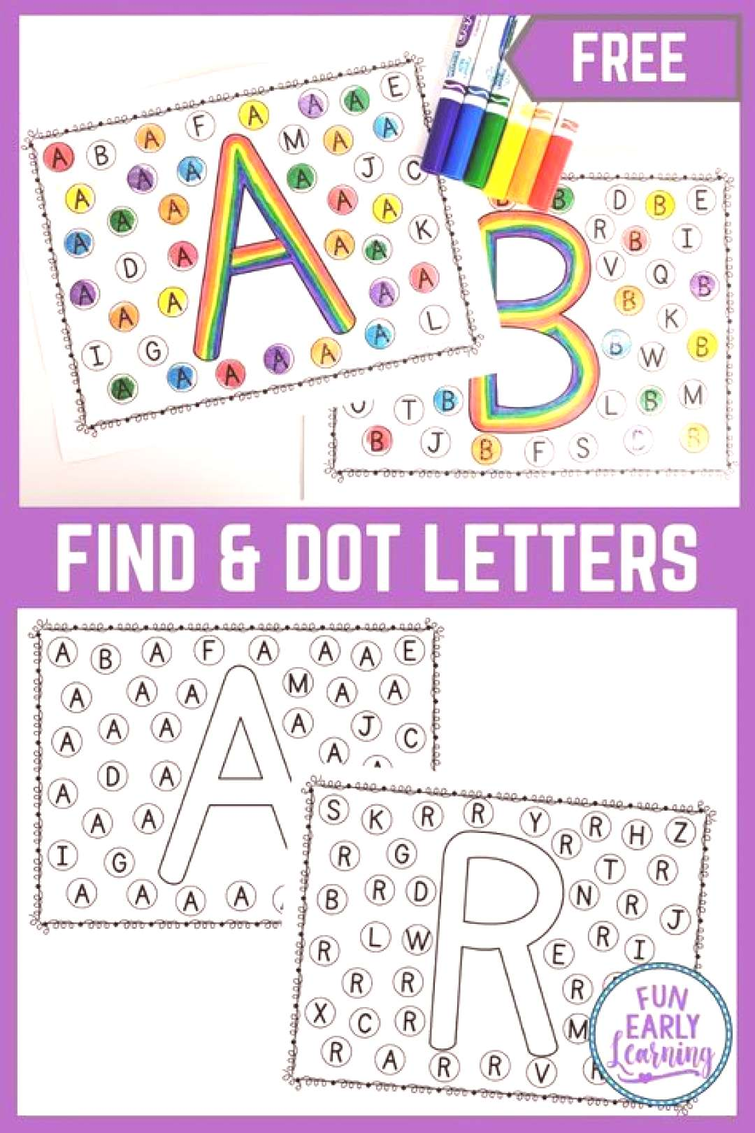 Find and align matching letters - Alphabetical activity for early childhood Find and align matching
