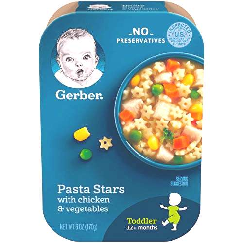 Gerber Pasta Stars with Chicken amp Vegetables, 6 Ounce (Pack