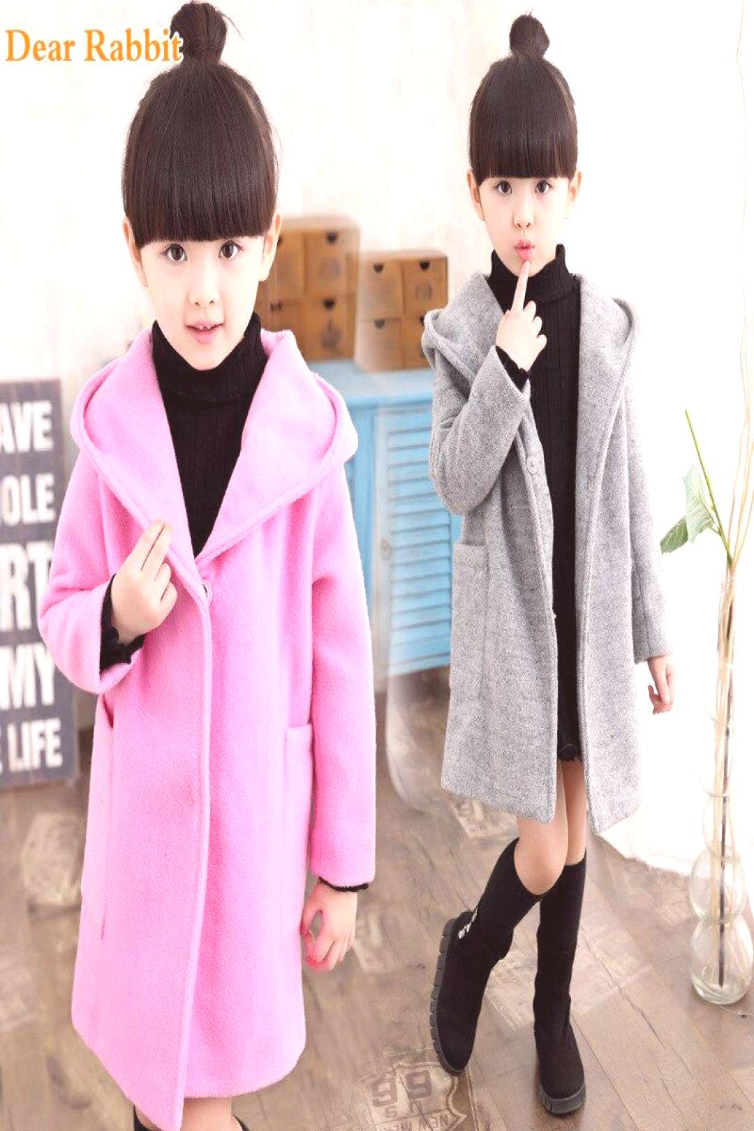 Girls clothes Trench Coats Jackets For Clothing Tops Kids childrens Windbreakers Spring jacket Aut