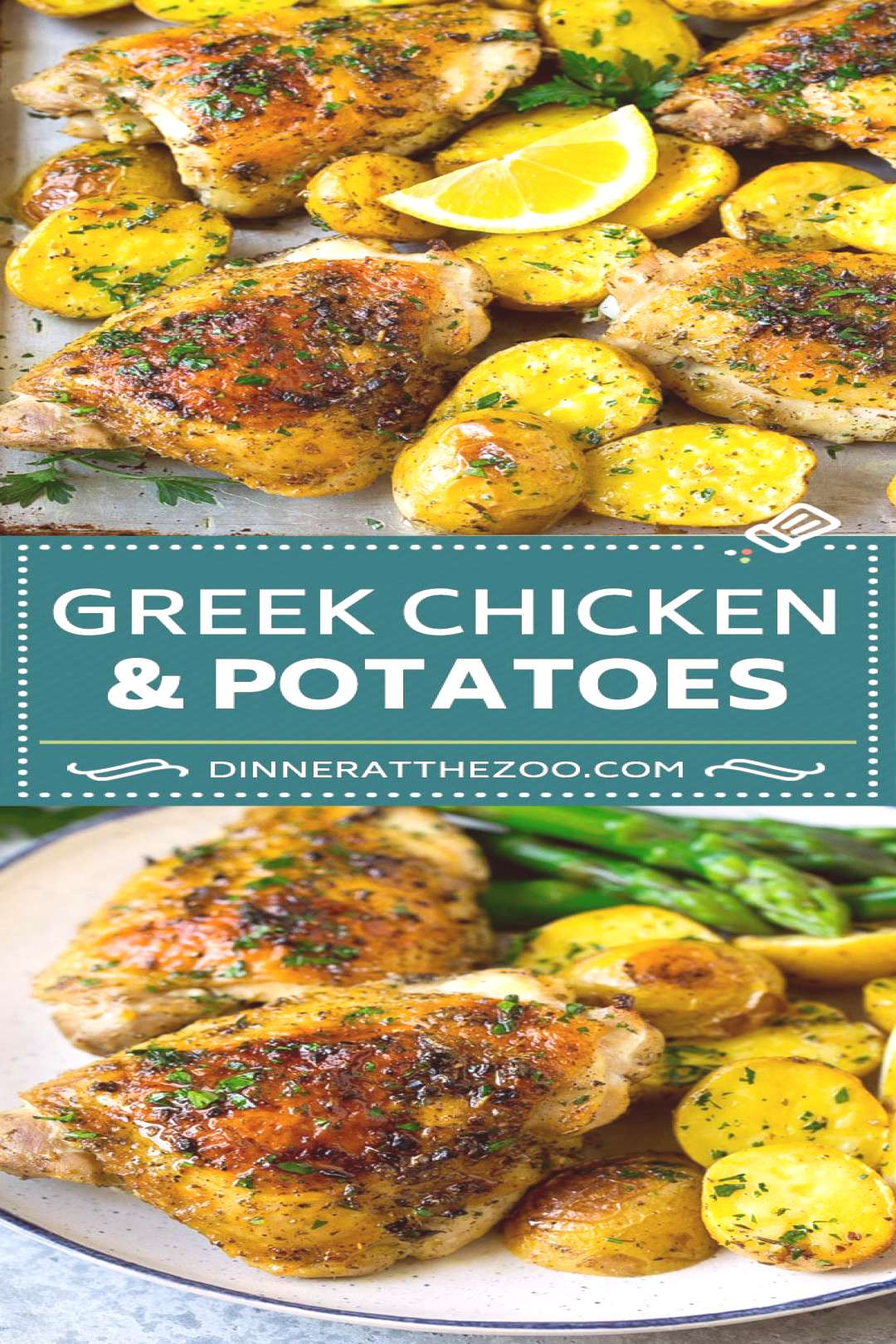 Greek Chicken and Potatoes Recipe | Sheet Pan Dinner | Roasted Chicken Thighs