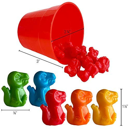 Hapinest Dinosaur Math Counters Color Sorting and Counting