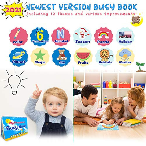 HeyKiddo Montessori Toys for Toddlers, Newest Version Busy