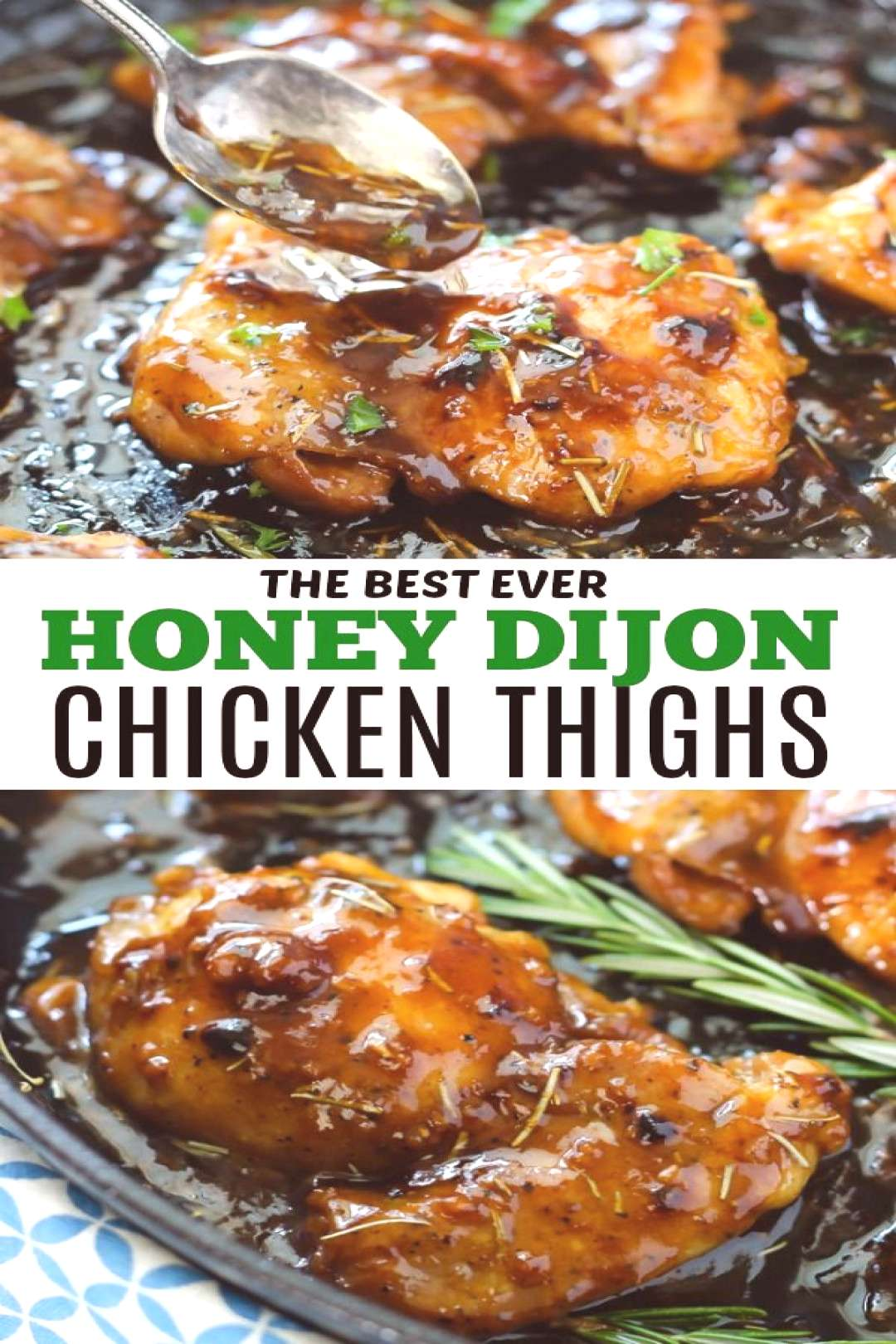 Honey Dijon Chicken Thighs make an amazing dinner that youll want over and over again! So juicy an