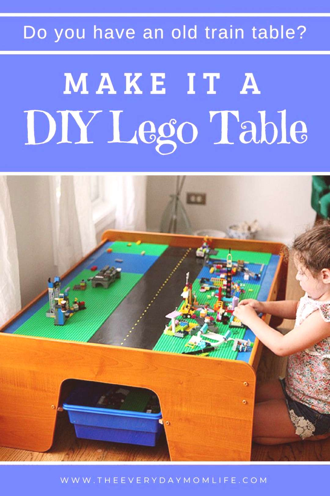How To Turn An Old Train Table Into An Amazing DIY Lego Table How To Turn An Old Train Table Into A