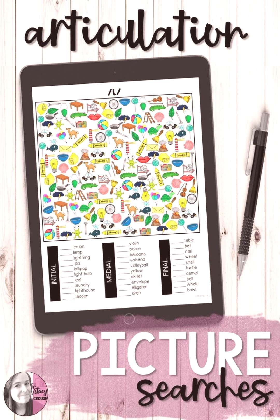 I Spot Articulation Picture Searches Need a simple and NO PRINT activity for speech therapy? This e