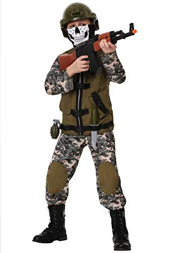 Kids Camo Trooper Costume Tactical Vest Camouflage Army