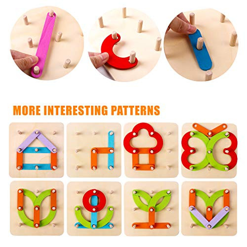 Kizh Wooden Letter and Number Construction Activity Set