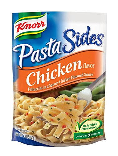 Knorr Pasta Sides Chicken Fettuccini (Pack of 4) 4.3 oz