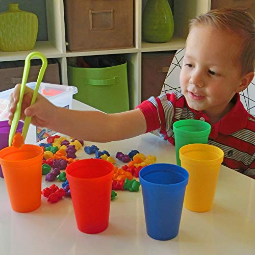 Legato Counting/Sorting Bears 60 Rainbow Colored Bears, 6