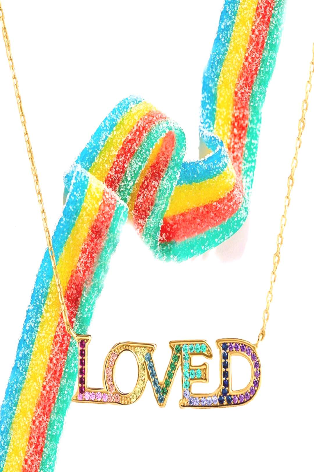 LOVED Pave Necklace in 18K Gold Plated