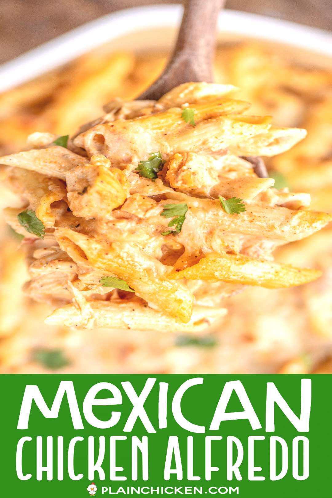 Mexican Chicken Alfredo Casserole - for when you cant decide between Mexican and Italian for dinne