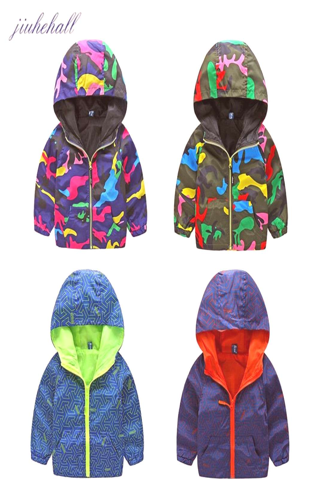New Arrival Spring/Autumn Boy and Girls Outwear Childrens Camouflage Hooded Jackets Handsome Kid L