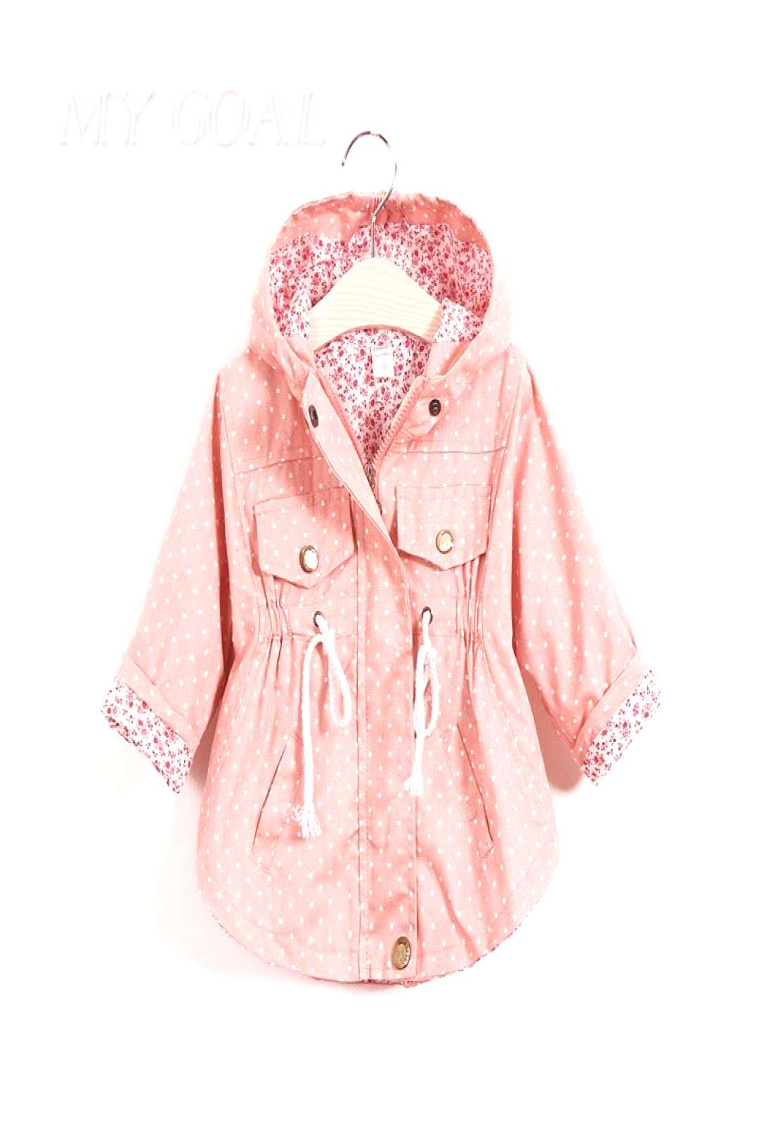 New Spring Baby girls Clothes Baby Outerwear Infant Cartoon Coat wave printed batwing coat - Buy it