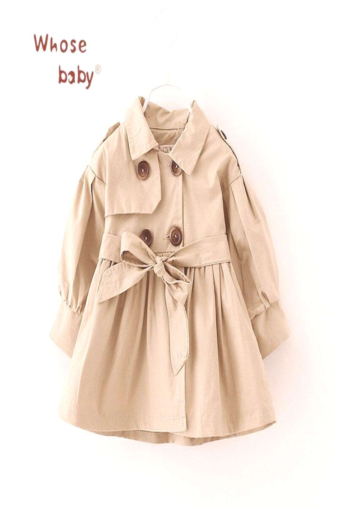 Newborn Baby Girl Clothes 2017 Autumn Bow Coat Infant Clothes For Children Baby Girls Fashion Cloth