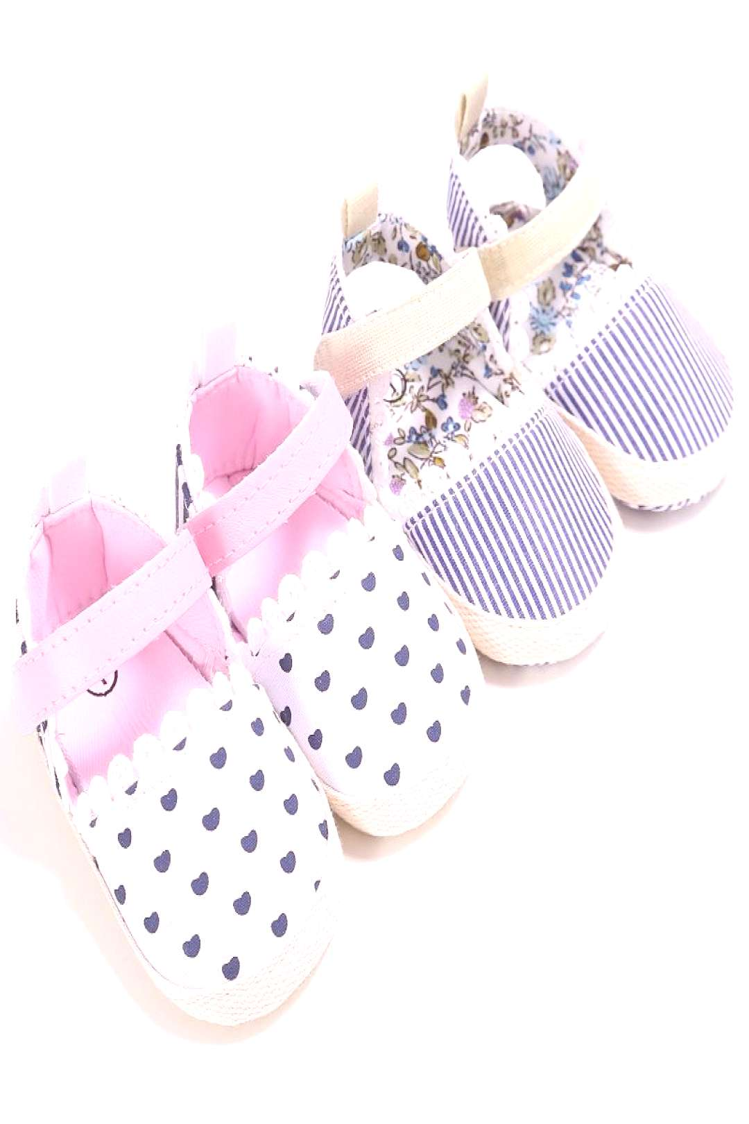 Newborn-18M Girls Kids Heart Baby Shoes Soft Sole Toddler HANDMADE Crib Shoes - Buy it Now!
