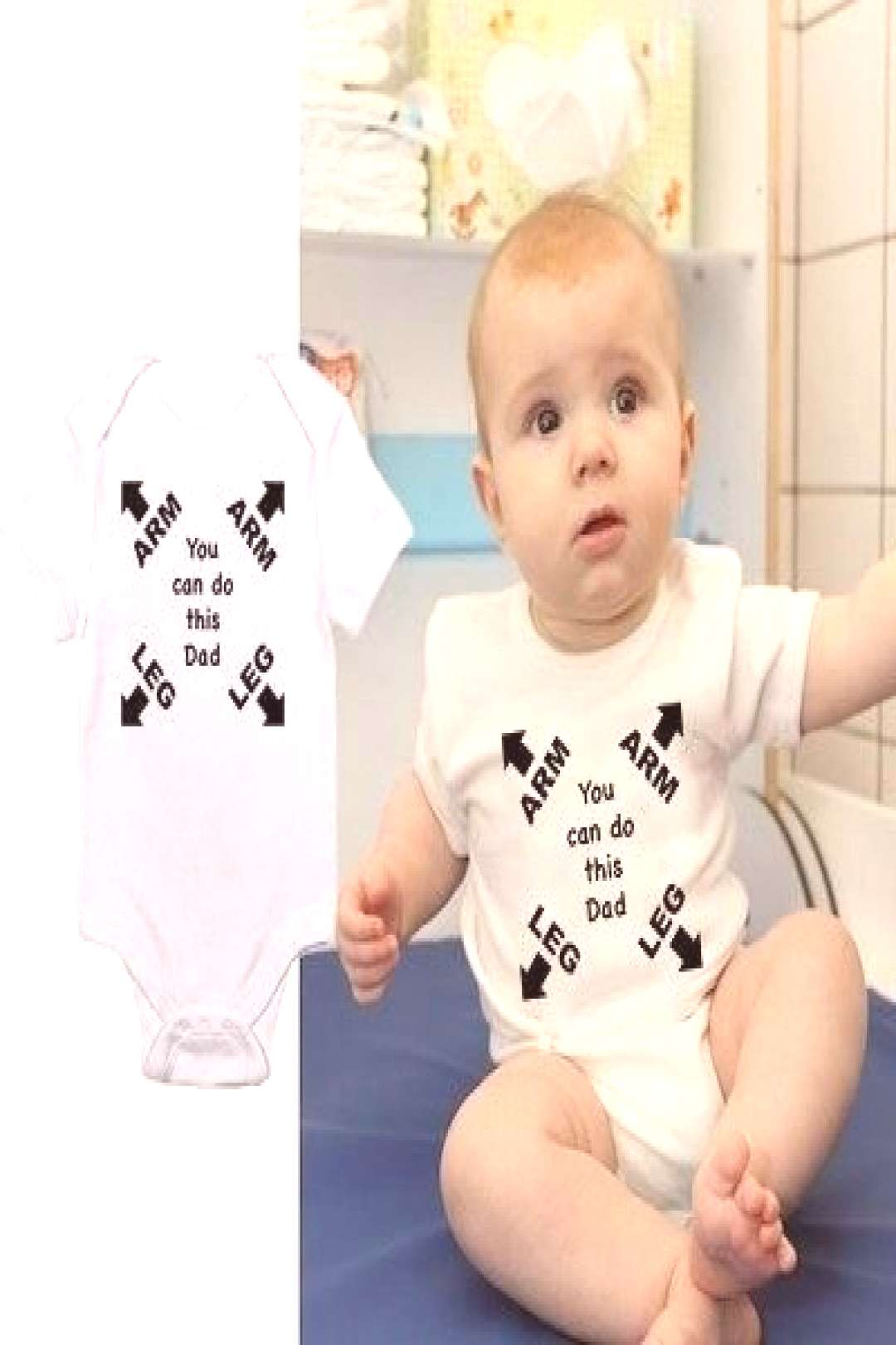 """Playful Baby Onesie """"You Can Do This Dad"""""""