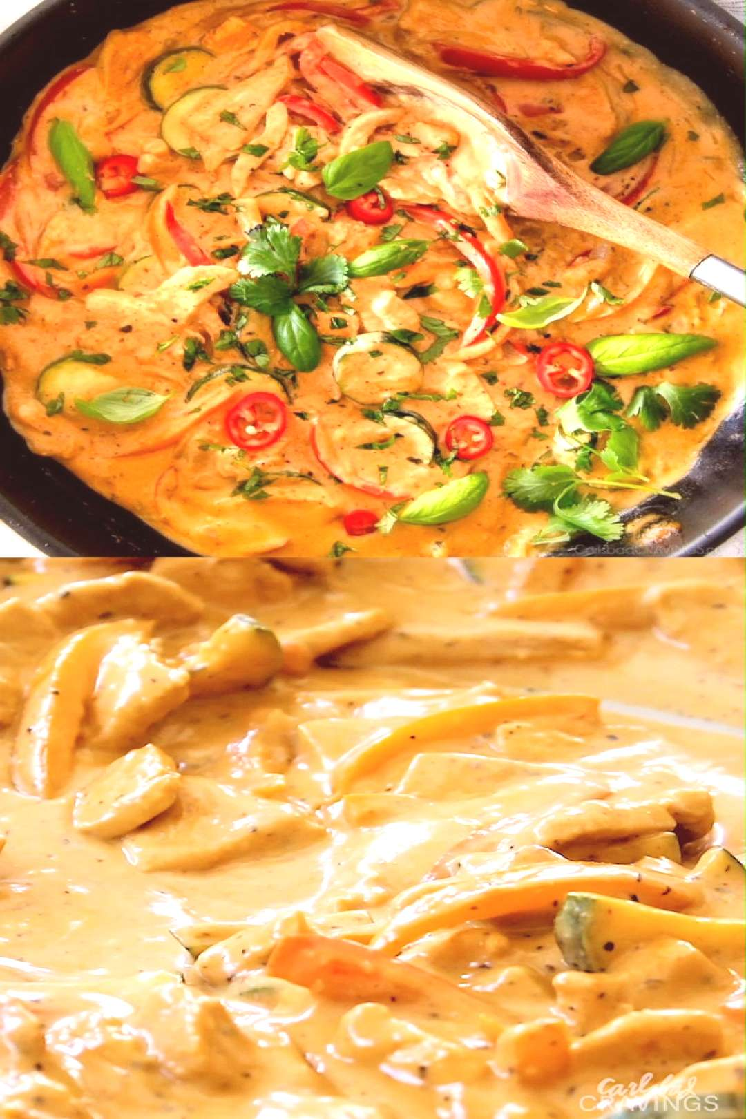Red Curry Coconut Chicken This less than 30 MINUTE Thai Red Curry Chicken tastes straight out of a