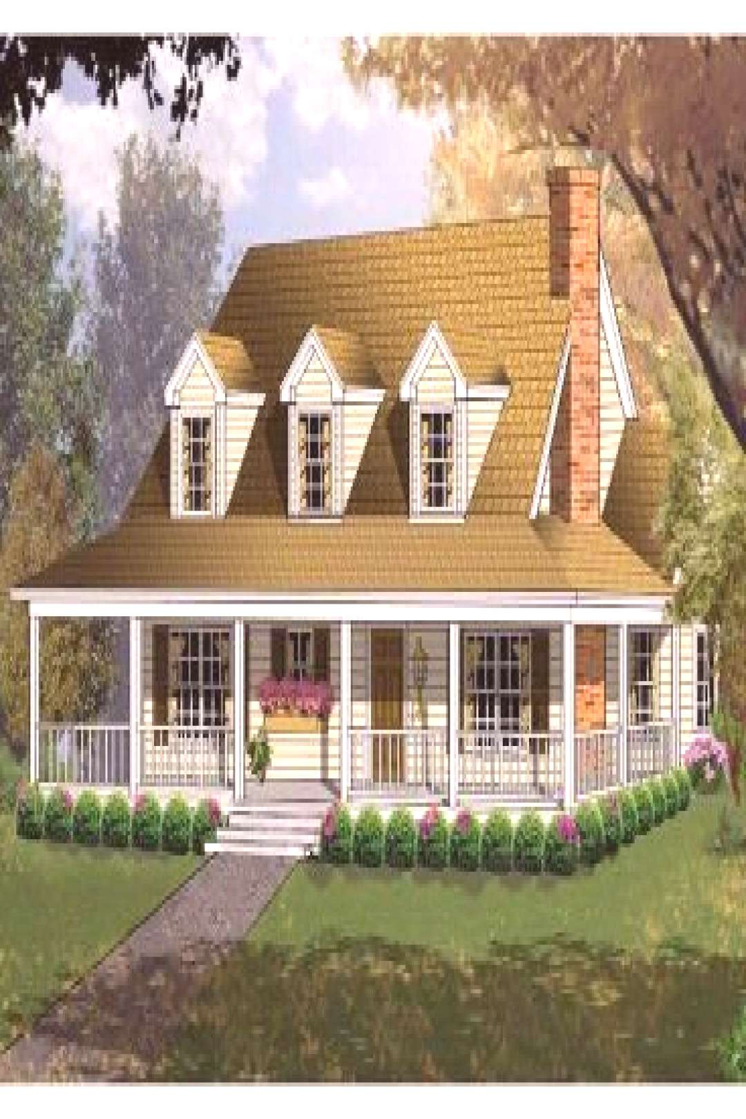 since my childhood, my dream was to live in the country - I had drawn a house wi  since my childh