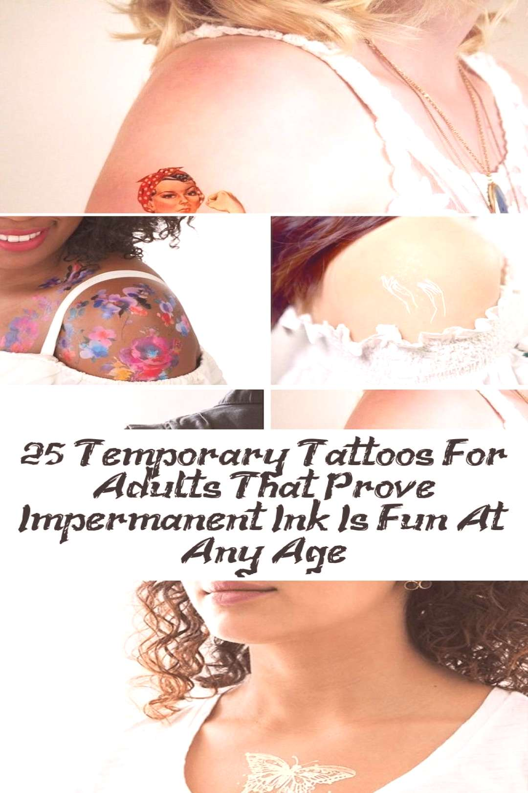 Temporary tattoos for adults give the childhood trend ... - ... - Temporary tattoos for adults add