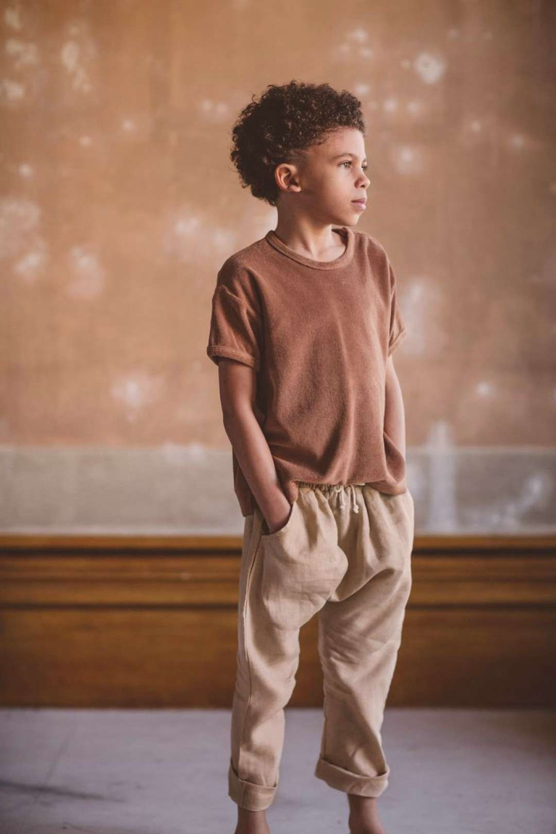 The Terry Boxy Tee - natural childhood