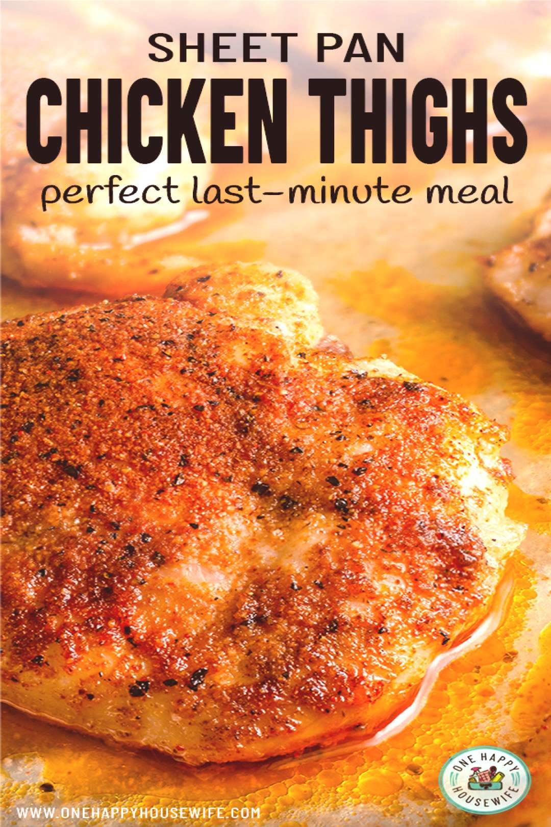 These simple Oven Roasted Chicken Thighs are the perfect last-minute meal. Super quick and easy to