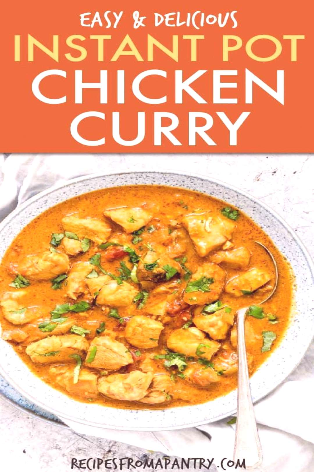 This Instant Pot Chicken Curry is the BEST chicken curry recipe ever. It is easy to make from pantr