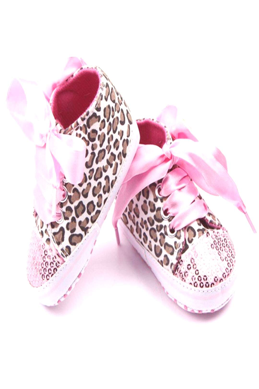 Toddler Baby Girls Newborn Shoes Floral Leopard Sequin Infant Soft Sole First Walker Cotton Shoes P