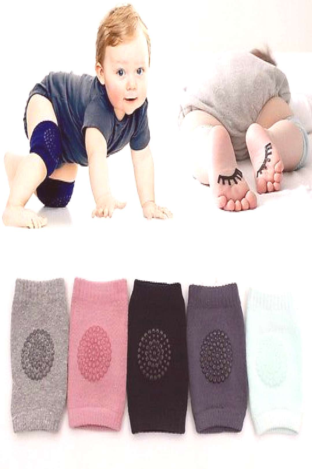 Toddlers Knee Pads Protector 1 pair New Baby Kids Safety Crawling Elbow Cushion Infants - Buy it No