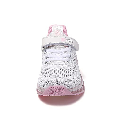TSIODFO Boys Girls Kids Sneakers Knitted Mesh Sports Shoes