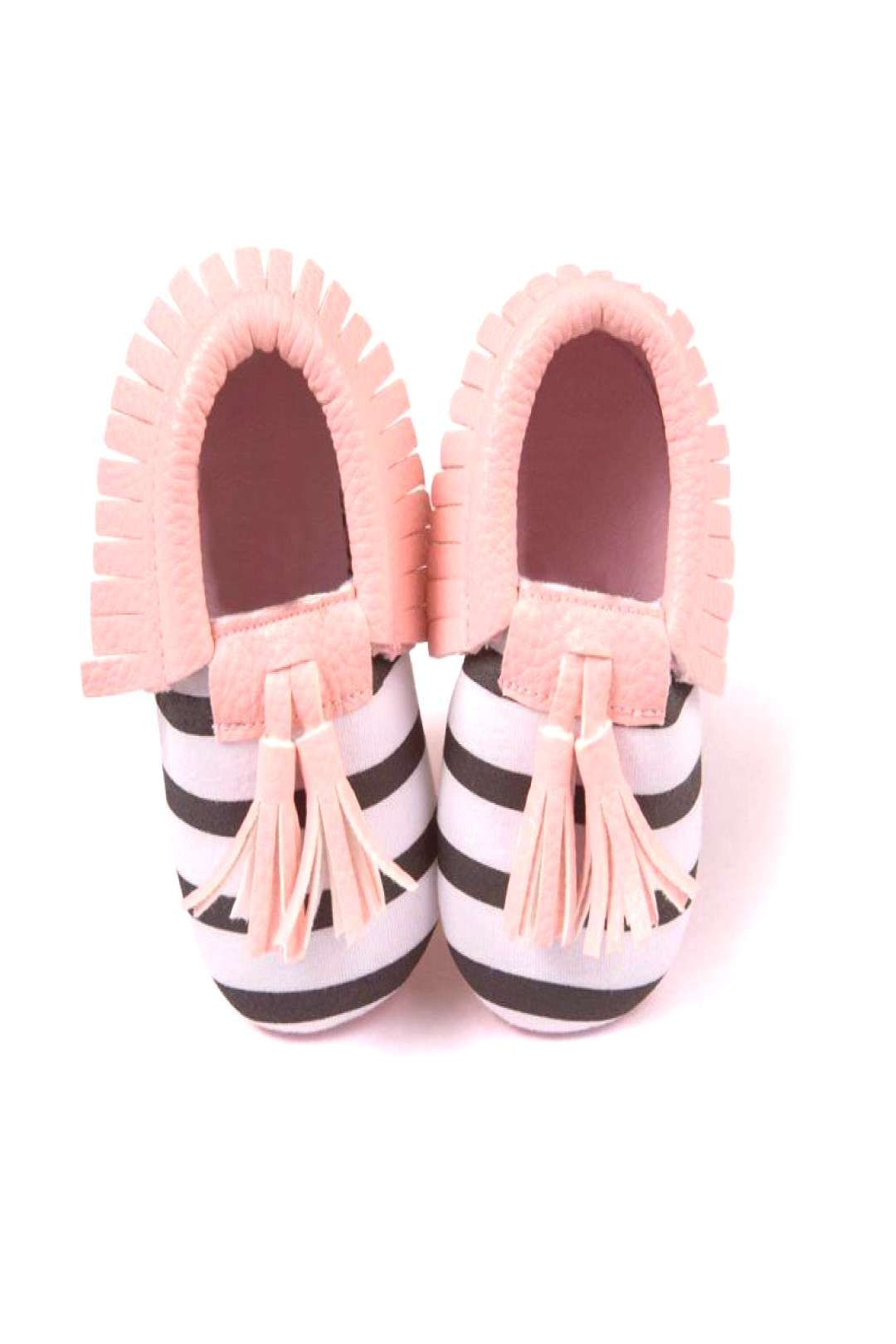 Unisex Boys Girls Soft PU Leather Tassel Moccasins Toddler Infant Moccasin Bow Shoes - Buy it Now!