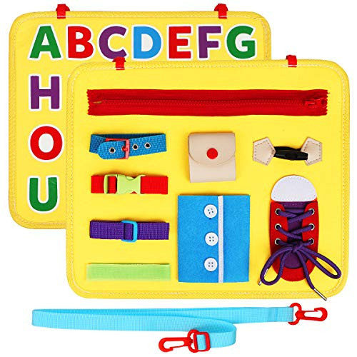 Vanmor Toddler Busy Board with ABC, Montessori Activity
