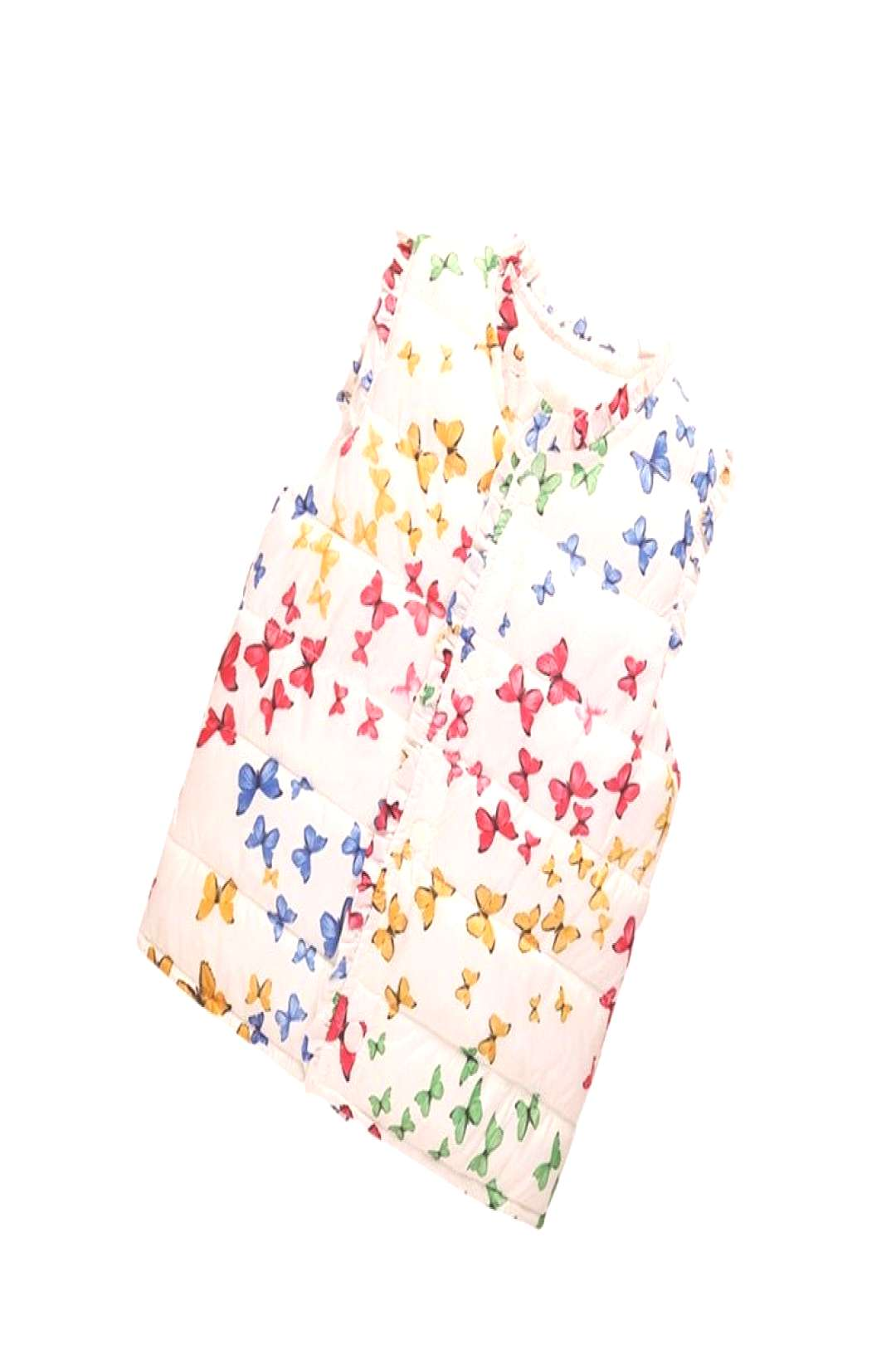 Winter Newest Butterfly Printed Girl Sleeveless Waistcoat Cotton Vest Infant Coat Casual Children J